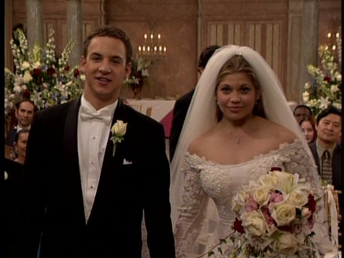 Boy Meets World 壁紙 containing a bridesmaid called Cory and Topanga's wedding