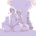 Cute Switzy and Lilli! - switzerland-hetalia photo