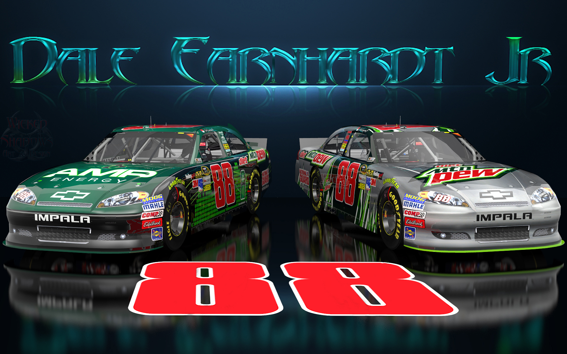 Dale Earnhardt Jr Dale Earnhardt Jr Wicked Text Amp Diet Dew Wallpaper