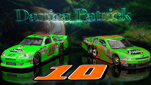 Danica Patrick NNS And Cup Go Daddy Cars वॉलपेपर 16x9