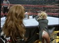 Debra at Wrestlemania XV- White riem, thong