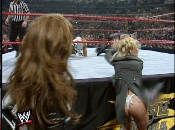 Debra at Wrestlemania XV- White correa, tanga