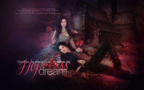diários do vampiro wallpaper with a fogo and a show, concerto called Delena