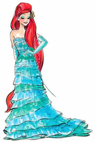 Disney Princess karatasi la kupamba ukuta entitled Disney Designer Princesses: Ariel