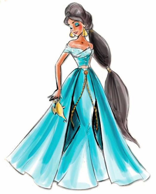Disney Princess Character Design : Disney designer princesses jasmine princess