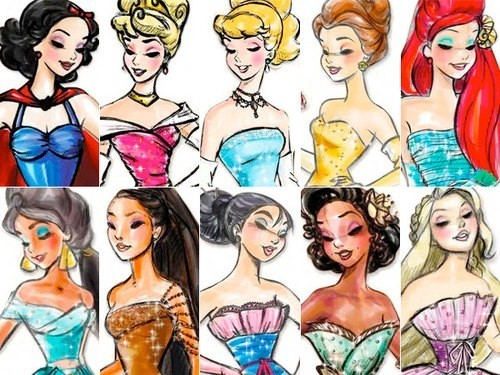 Disney Princess wallpaper possibly with anime called Disney Designer Princesses