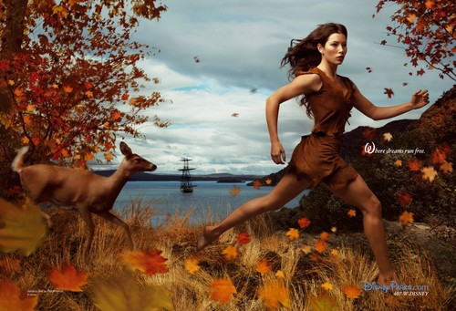 Disney Dream Portraits: Jessica Biel as Pocahontas - disney-princess Photo