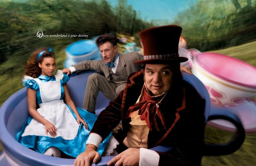 Disney wallpaper containing a boater titled Disney Dream Portraits: Beyonce: Alice, Lyle Lovett: March Hare, and Oliver Platt: Mad Hatter