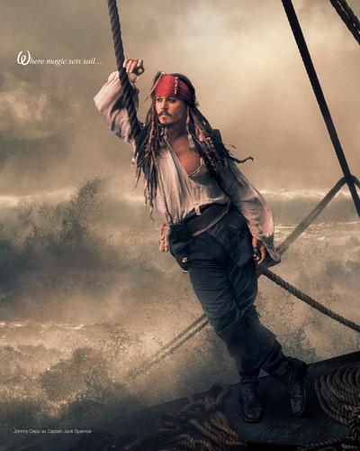 ディズニー Dream Portraits: Johnny Depp as Jack Sparrow