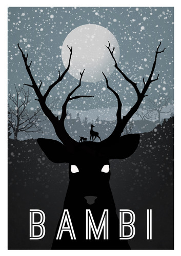Disney Movie Minimalist Poster: Bambi