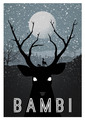ডিজনি Movie Minimalist Poster: Bambi
