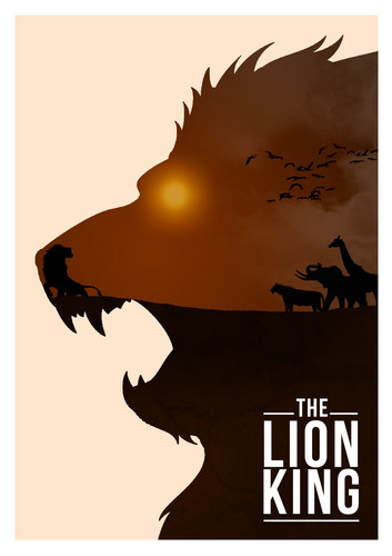डिज़्नी Movie Minimalist Poster: The Lion King