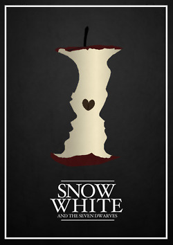 Disney Hintergrund possibly containing a sign entitled Disney Movie Minimalist Poster: Snow White