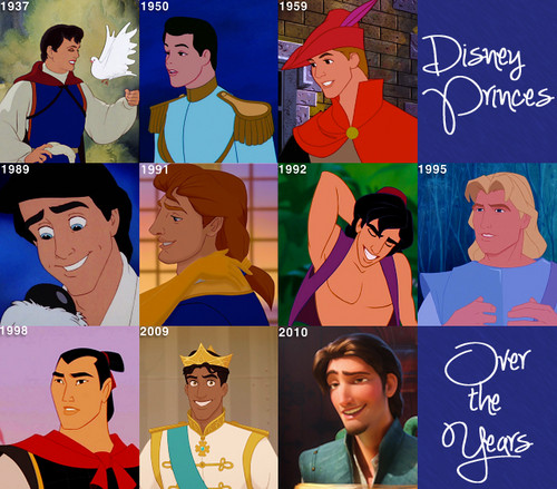 ディズニー Princes Over the Years