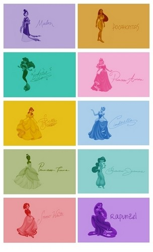 디즈니 Princess Signatures
