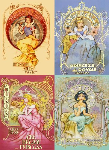 "disney Princess ""Vintage"" Posters"