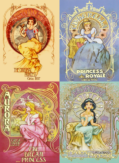 Disney  Princess  Vintage  Posters Disney Princess