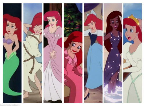 Disney Princess پیپر وال entitled Disney Princess Wardrobes: Ariel