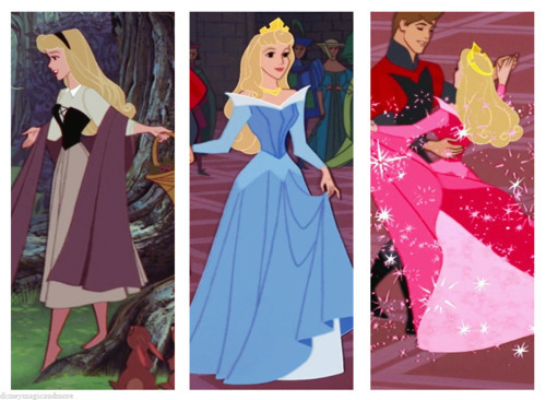 Disney Princess wallpaper possibly containing a dinner dress entitled Disney Princess Wardrobes: Aurora