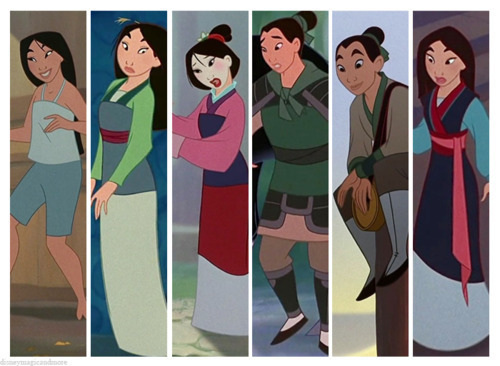 disney Princess Wardrobes: mulan