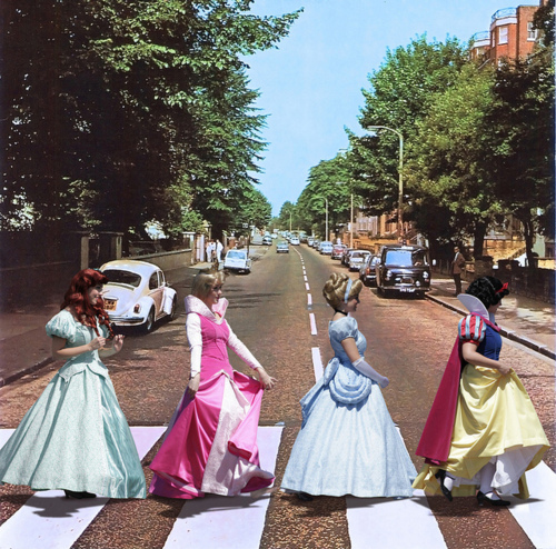 disney Princesses: Abbey Road Style