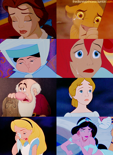 Disney Characters: Crying