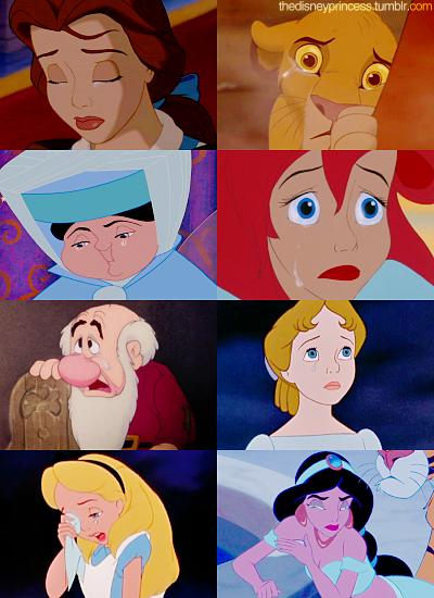 Disney Princesses: Crying