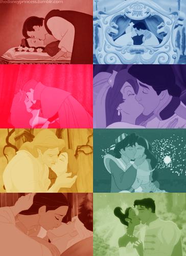 ディズニー Princesses Kisses