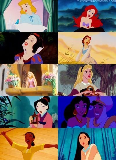 Disney Princesses Singing