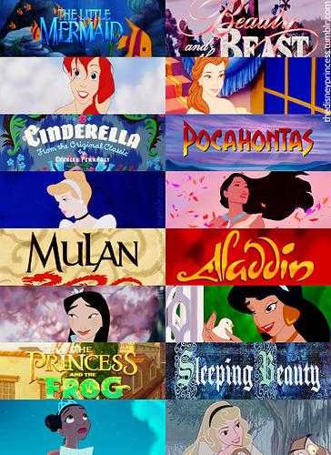 disney Princesses título Screens