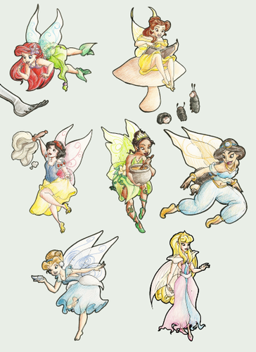 Disney Princesses as Fairies