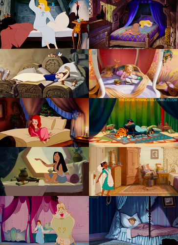 Disney Princesses Bedrooms