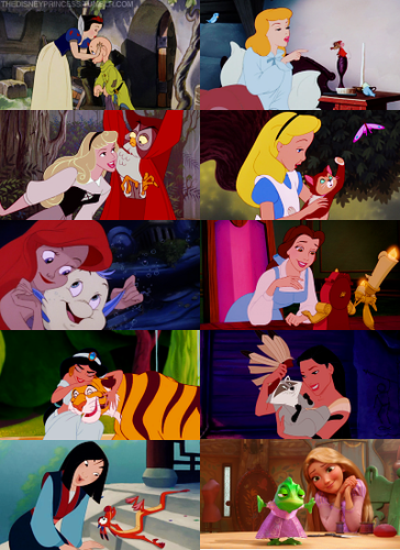Disney Princesses Animal دوستوں