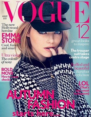 Emma Stone Covers British Vogue August 2012 - emma-stone Photo