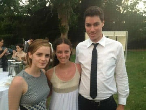 Emma Watson at her boyfriend's cousin's wedding in the Hamptons