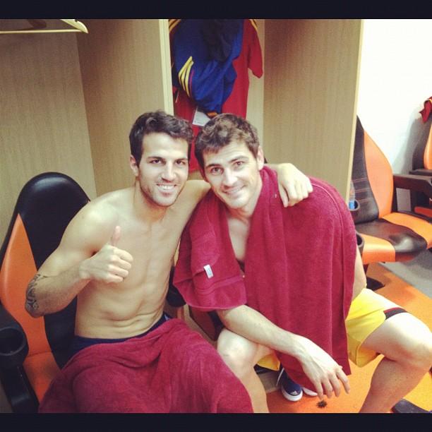 Euro 2012 final: Spain v Italy - Fabregas celebrating victory
