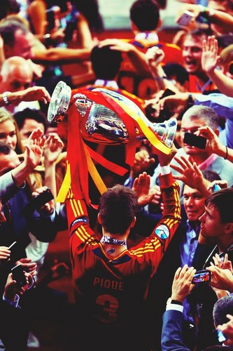 Spain National Football Team wallpaper containing a bandsman titled Euro 2012 final: Spain v Italy - Spain celebrating victory