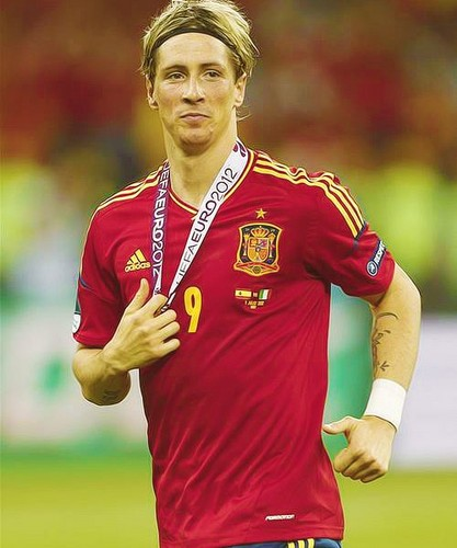 Fernando Torres karatasi la kupamba ukuta called Euro 2012 final: Spain v Italy - Torres celebrating victory