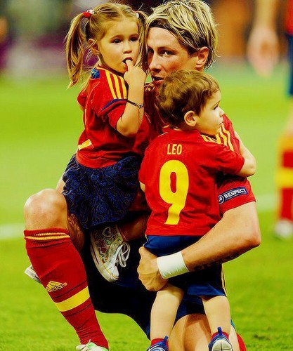Fernando Torres wallpaper probably containing a fullback entitled Euro 2012 final: Spain v Italy - Torres celebrating victory