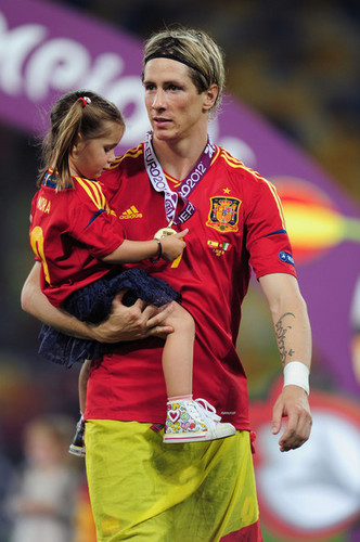 Euro 2012 final: Spain v Italy - Torres celebrating victory