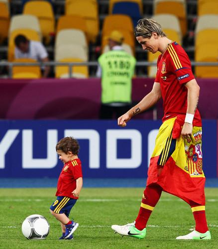 Euro 2012 final: Spain v Italy - Torres celebrating victory