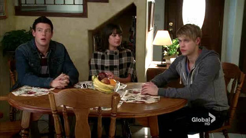 Finn, Rachel and Sam 3x08