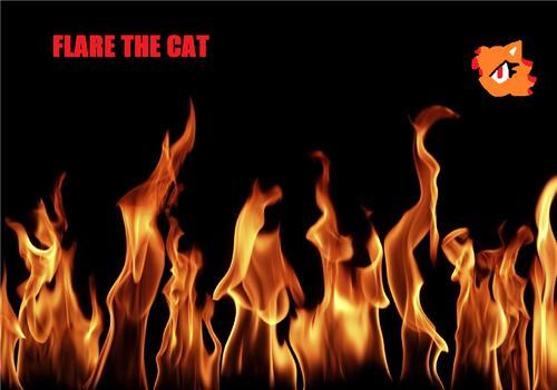 Flare the Cat- karatasi la kupamba ukuta