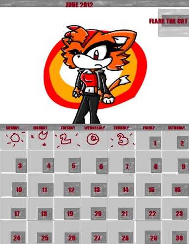 Flare the Cat- Calendar