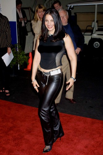 Fran Drescher Hintergrund probably containing a hip boot, a playsuit, and a legging titled Fran
