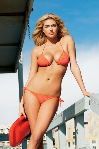 Kate Upton wallpaper containing a bikini called GQ [July 2012]