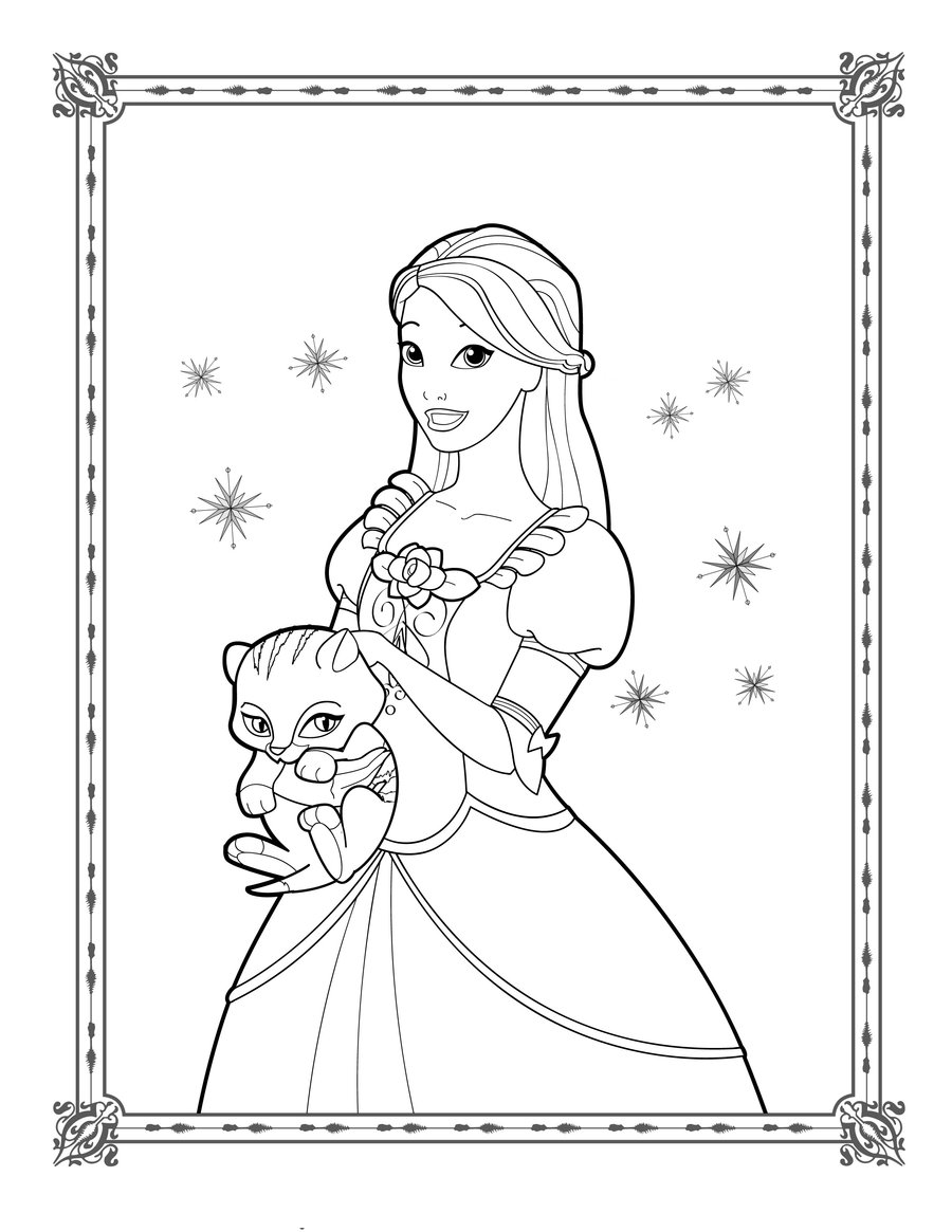 Barbie Coloring pages on Pinterest Barbie Coloring Pages