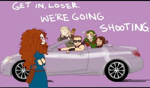 Get in loser, we're going shooting!