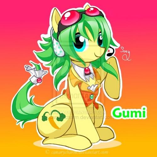 Gumi as a pony.