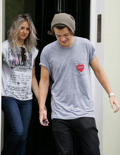 Harry Styles and Lou Teasdale - London, UK 05/07/2012